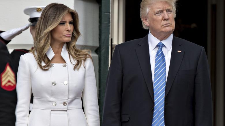Melania and Donald Trump in Israel in 2017
