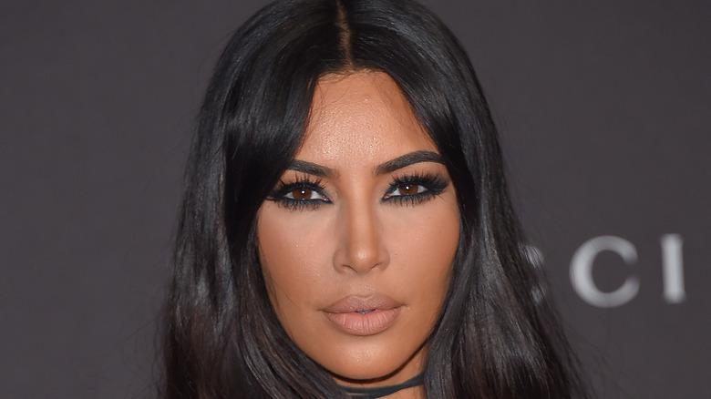 Kim Kardashian in black eyeshadow