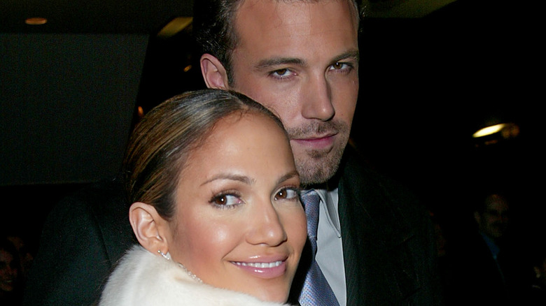 Jennifer Lopez and Ben Affleck at an event in NYC.