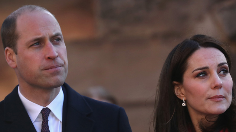 Prince William and Kate Middleton at an event.