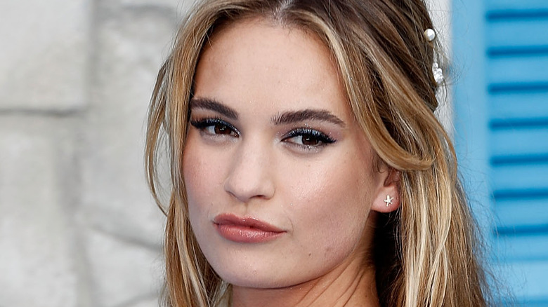 Lily James at an event in London