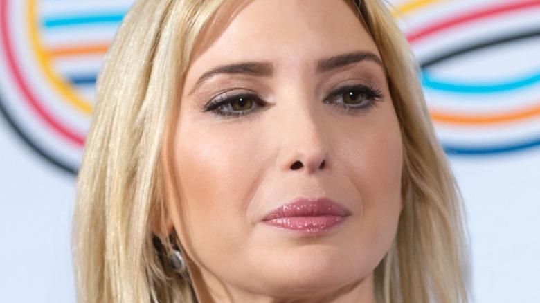 Ivanka Trump in pink lipstick