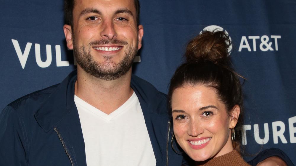 Jade Roper and Tanner Tolbert smile together