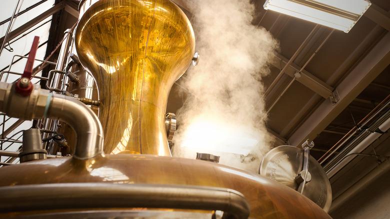 copper still for Irish whiskey