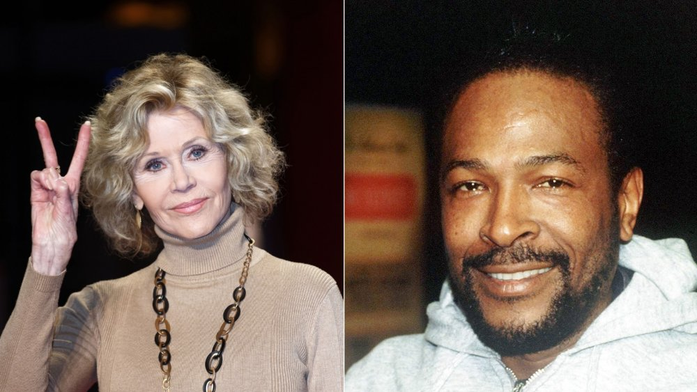 Jane Fonda and Marvin Gaye