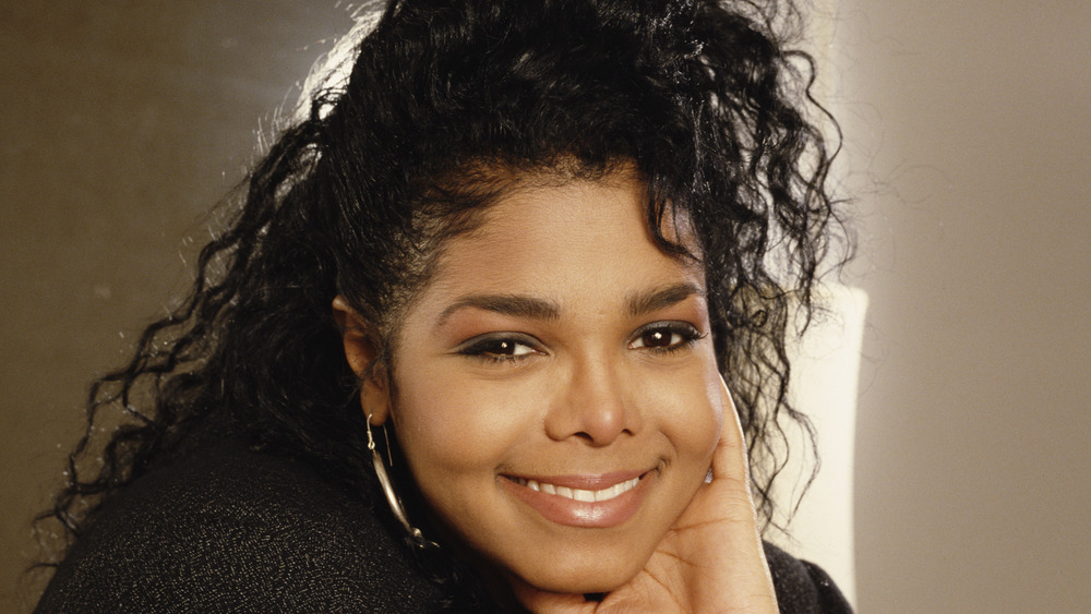 Young Janet Jackson smiling