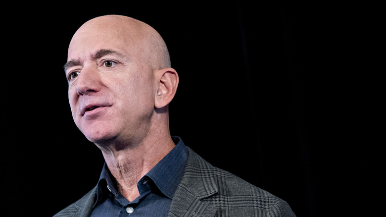Jeff Bezos speaking at event