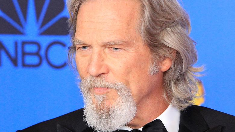 Jeff Bridges looking serious