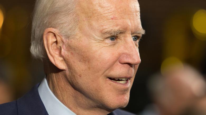 President Joe Biden smiling in profile