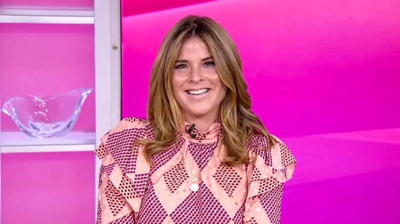 Jenna Bush Hager in pink blouse