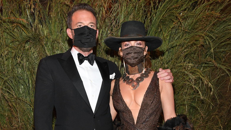 Jennifer Lopez and Ben Affleck attend Met Gala 2021