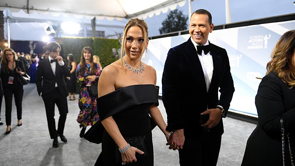 Jennifer Lopez and Alex Rodriguez at an event
