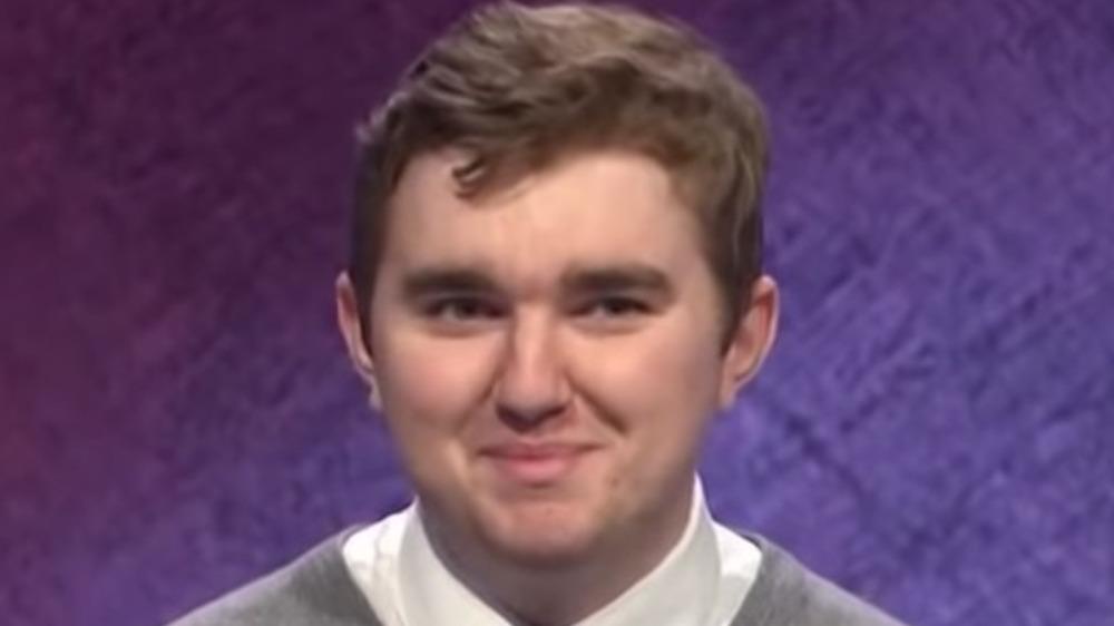 Brayden Smith smiling on Jeopardy!