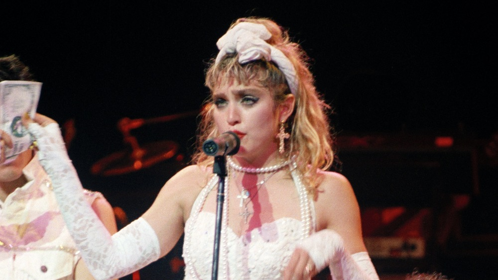 """Madonna in """"Like a Virgin"""" outfit"""