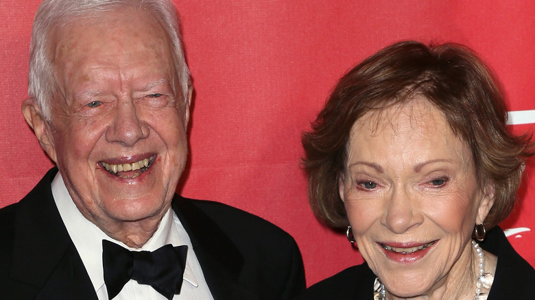 Jimmy and Rosalynn Carter on the red carpet
