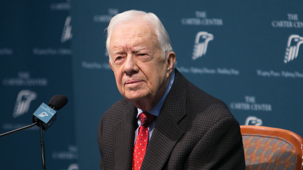 Jimmy Carter speaking at an event