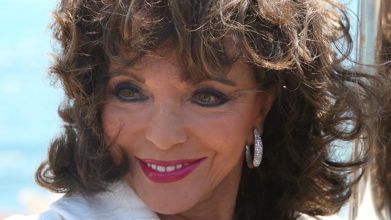 Joan Collins smiling