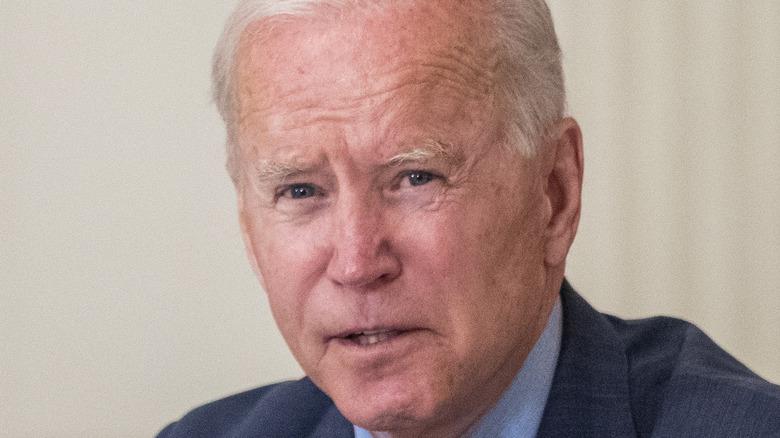 Joe Biden at a meeting with Latino community leaders