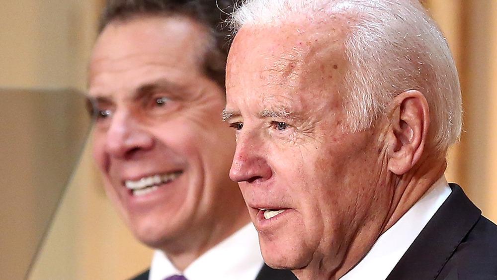 Joe Biden and Andrew Cuomo smiling