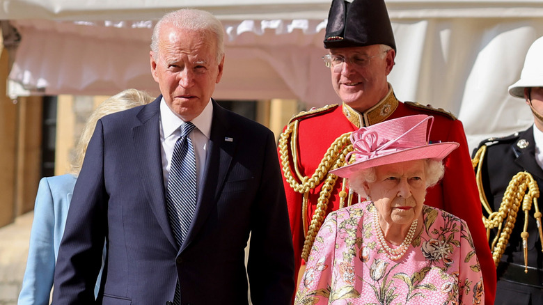 Joe Biden and Queen Elizabeth