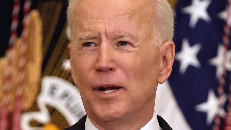 Joe Biden at his first press conference
