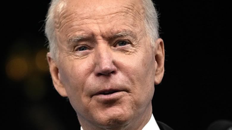 Joe Biden mid speech