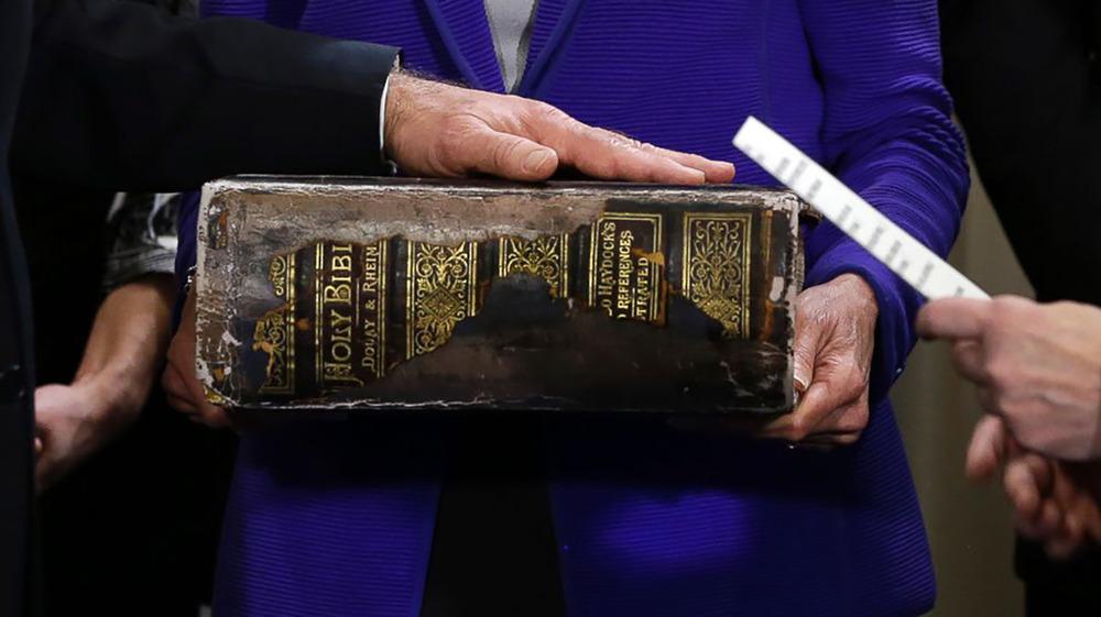 Biden family Bible up close