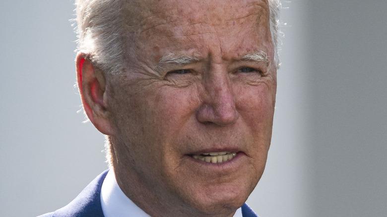 Joe Biden speaking at White House