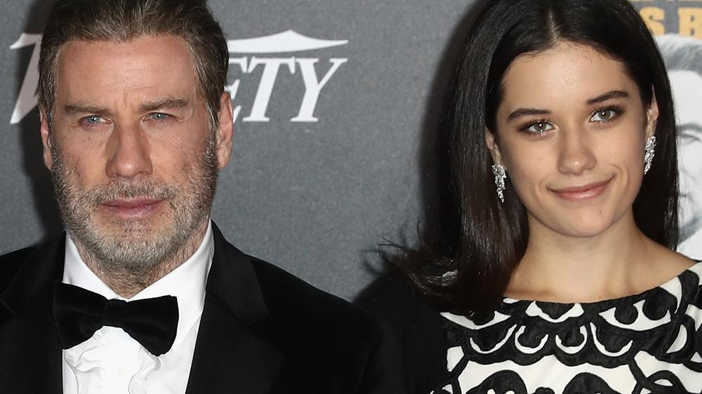 John Travolta with daughter at event