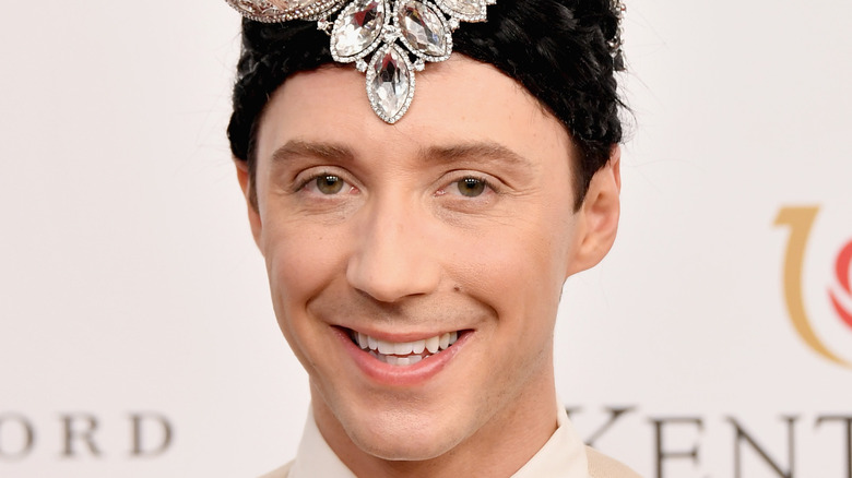 Johnny Weir on the red carpet