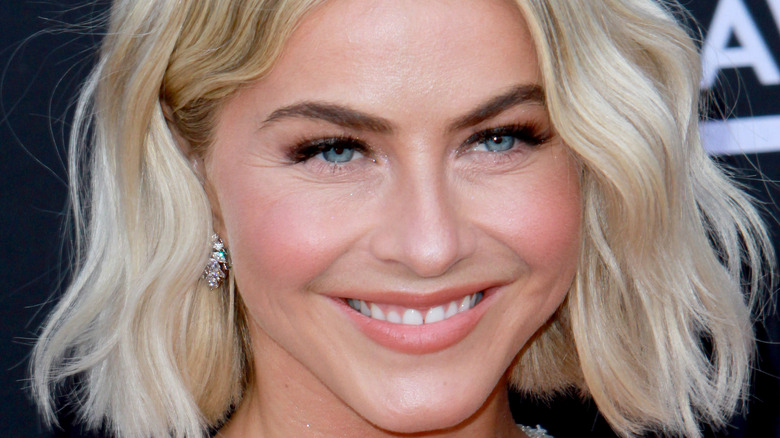 Julianne Hough smiling on the red carpet