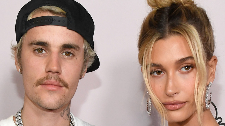 Justin Bieber and Hailey Baldwin on the red carpet