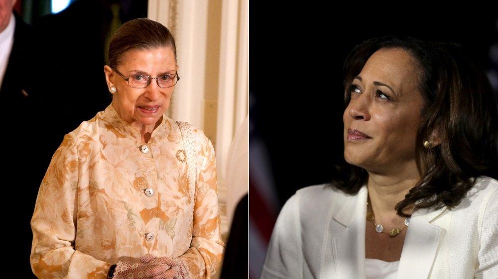 Ruth Bader Ginsburg and Kamala Harris