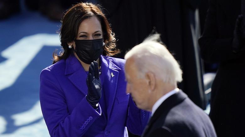 Kamala Harris and Joe Biden at inauguration