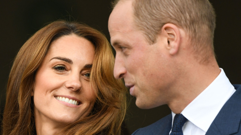 Kate Middleton and Prince William speaking to each other