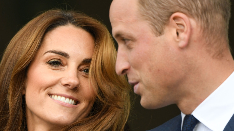 Kate and Prince William smiling candidly