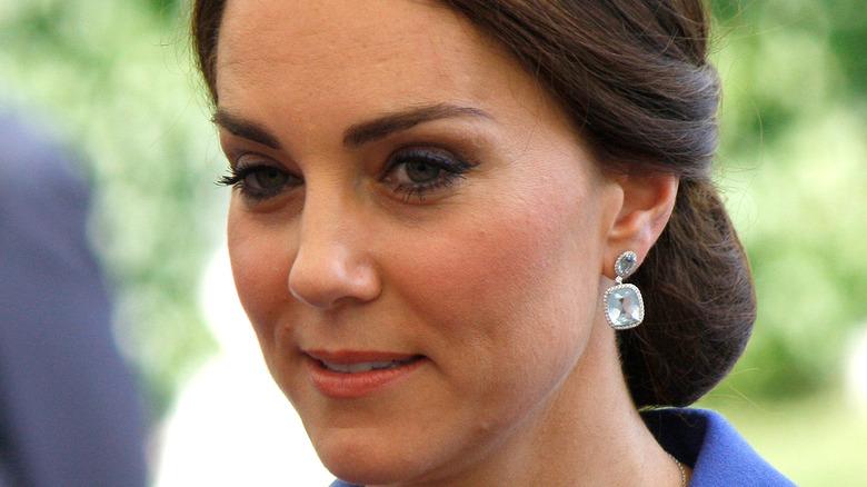 Kate Middleton with a slight smile
