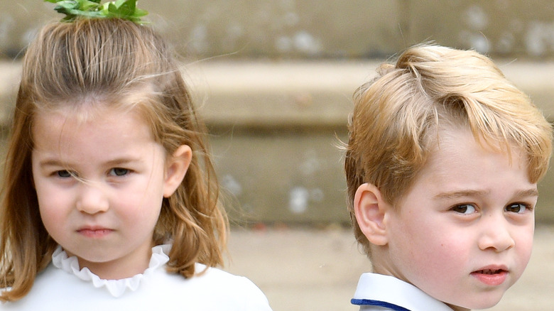 George and Charlotte at Pippa Middleton's wedding