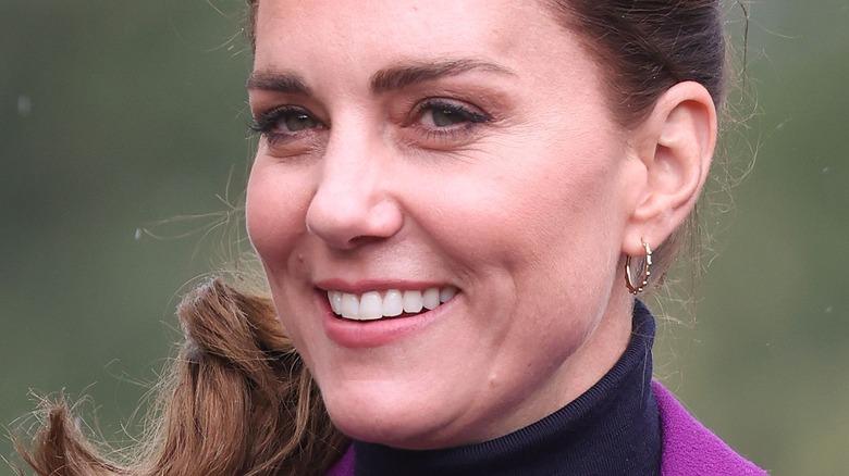 Kate Middleton stuns in purple