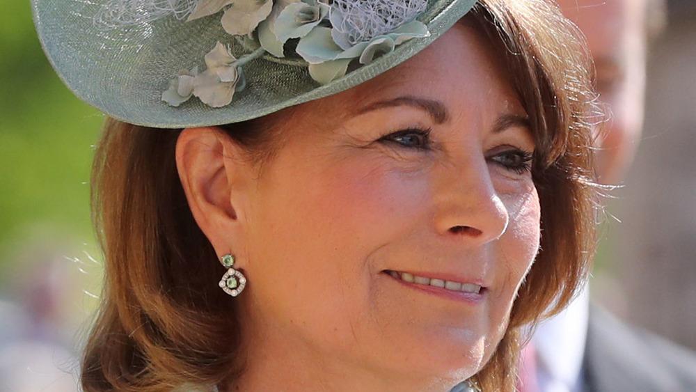 Carole Middleton smiling in hat