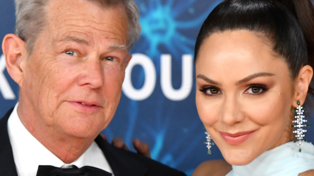 David Foster and Katharine McPhee smile together