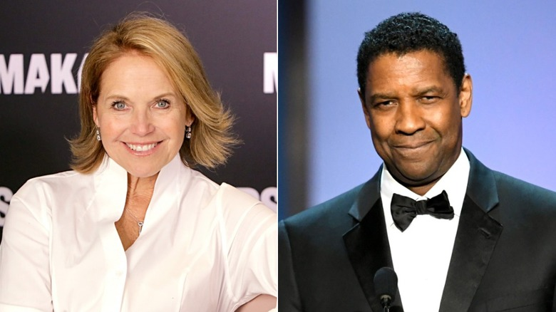 Katie Couric and Denzel Washington
