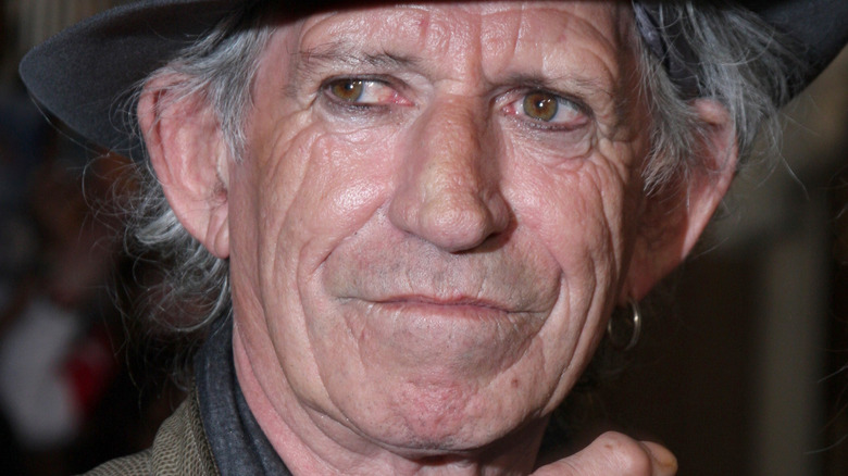 Keith Richards smirking