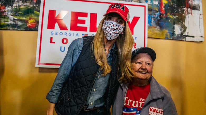 Kelly Loeffler in a red cap