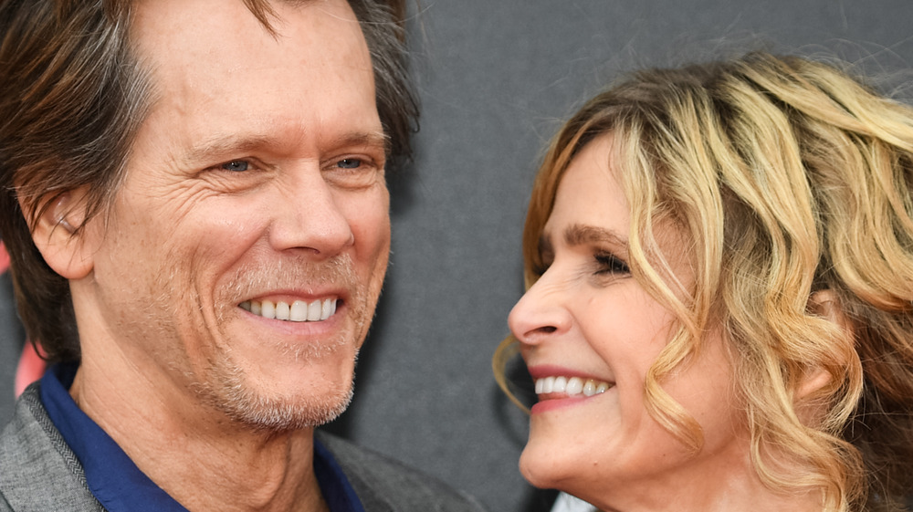 Kevin Bacon and Kyra Sedgwick smiling together