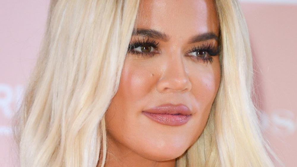 Khloe Kardashian with blonde hair