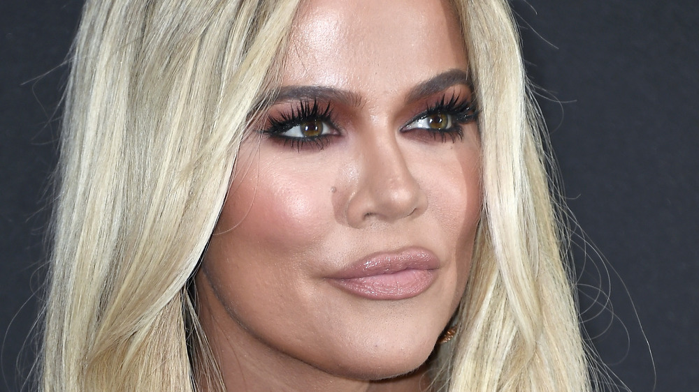 close up of Khloé Kardashian
