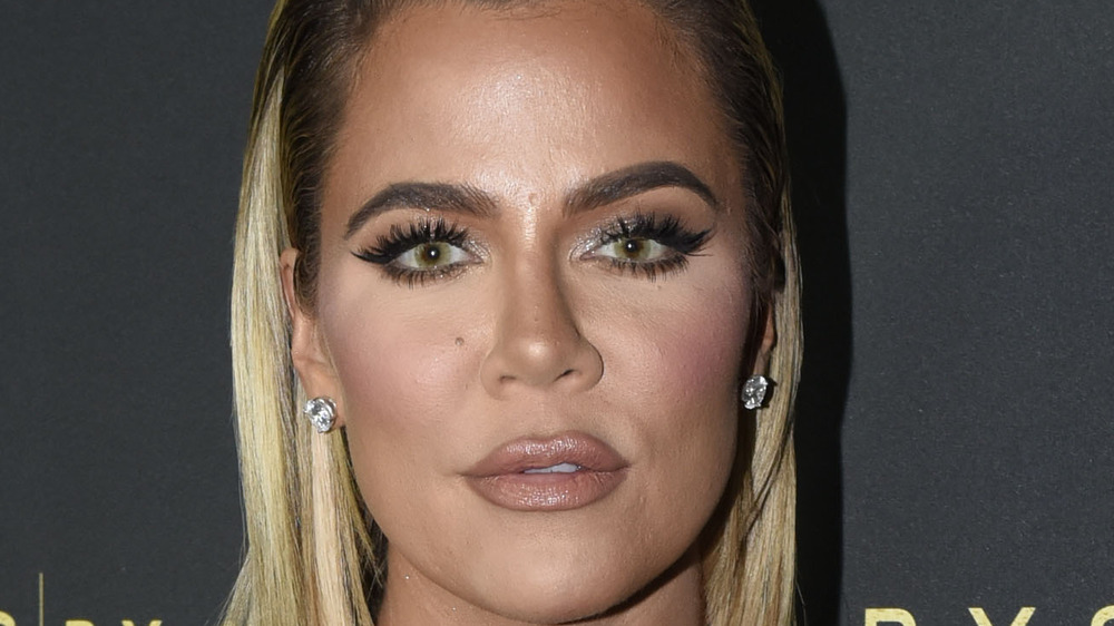 Khloe Kardashian looking serious
