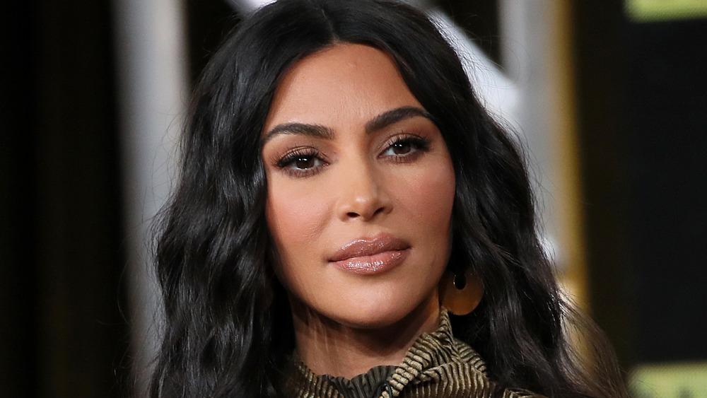 Kim Kardashian looking serious