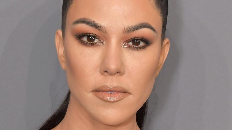Kourtney Kardashian looking serious